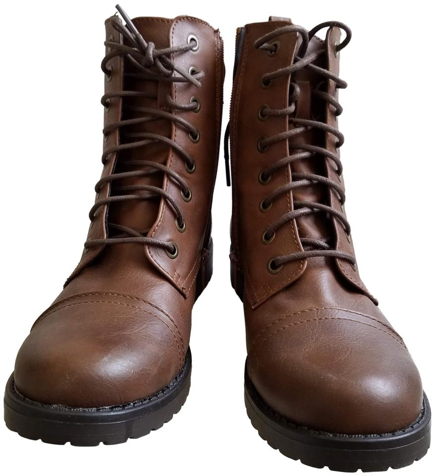 775e109acc7f Mossimo Supply Co. Brown Combat Boots Booties. Size  US 7 Regular (M ...