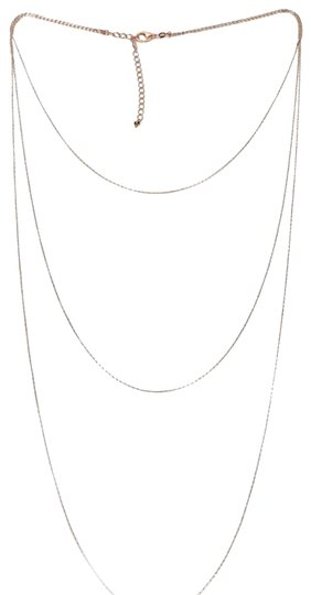Preload https://img-static.tradesy.com/item/24322094/white-and-rose-gold-14k-3-layer-raso-link-18-necklace-0-3-540-540.jpg