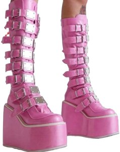 Demonia pink Boots