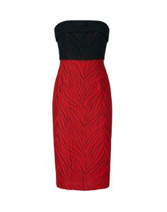 Monique Lhuillier Holiday Strapless Fitted Evening Comfortable Dress