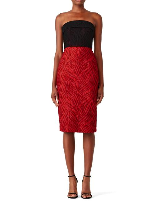 Monique Lhuillier Holiday Strapless Fitted Evening Comfortable Dress Image 1