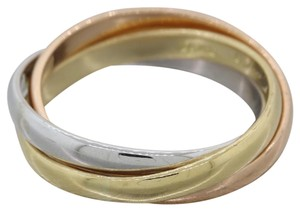 Cartier Cartier Solid 18k Yellow White Rose Gold Trinity 2mm Band Ring