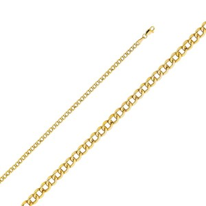 Top Gold & Diamond Jewelry 14k Yellow Gold 3.5 mm Hollow Cuban Chain - 24