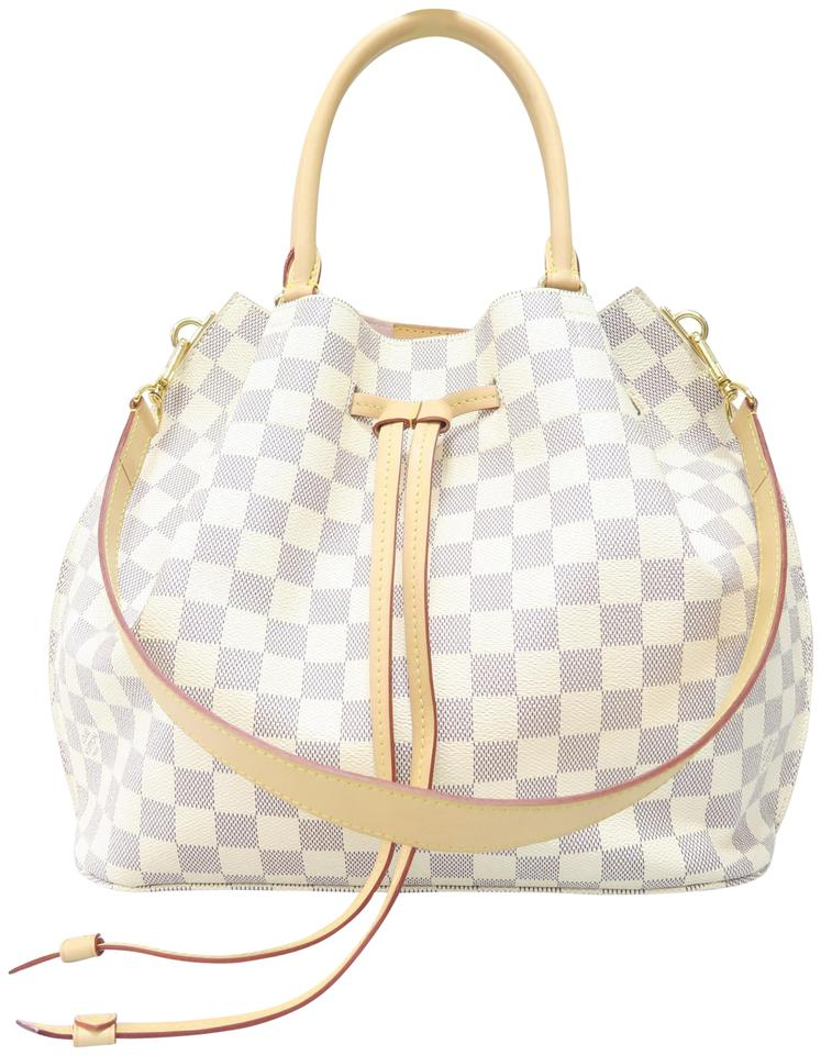 5a4b9323c9a0 Louis Vuitton Girolata Damier Azur White Canvas Shoulder Bag - Tradesy