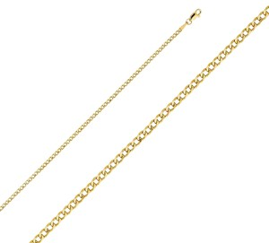 Top Gold & Diamond Jewelry 14k Yellow Gold 2.4 mm Hollow Cuban Chain - 20