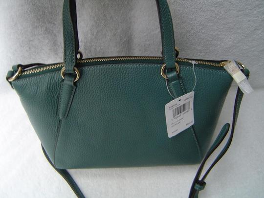 Coach Leather Kelsey Tote Bright Mineral Blue Cross Body Bag Image 1