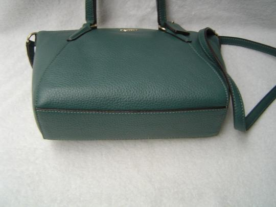 Coach Leather Kelsey Tote Bright Mineral Blue Cross Body Bag Image 3
