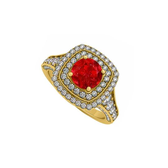 Preload https://img-static.tradesy.com/item/24322369/red-created-ruby-and-cz-double-halo-in-yellow-gold-engagement-ring-0-0-540-540.jpg