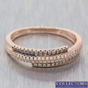 LeVian Rose Gold 14k .35ctw Chocolate Diamond 5mm Band E8 Ring