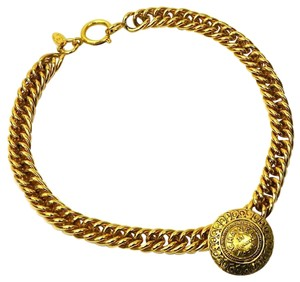 Chanel Vintage Gold Plated Rue Cambon Choker