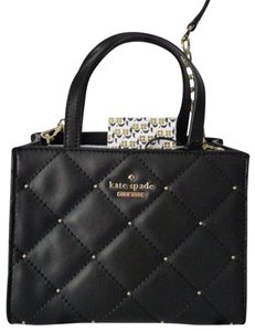 Kate Spade Sam Quilted Leather Satchel in Black