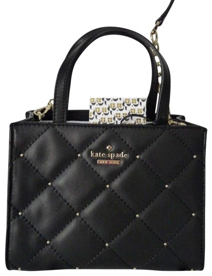 Preload https://img-static.tradesy.com/item/24322468/kate-spade-pxru9069-emerson-quilted-stud-small-and-cros-black-leather-satchel-0-3-540-540.jpg