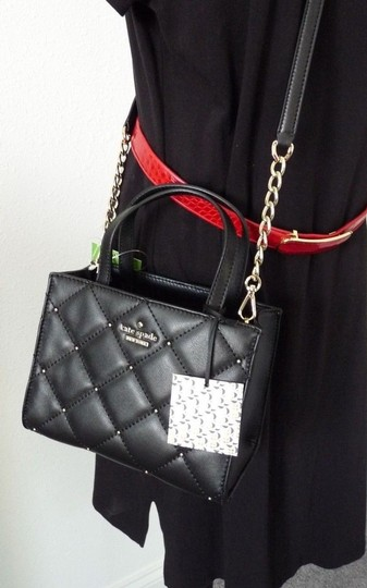 Kate Spade Sam Quilted Leather Satchel in Black Image 2