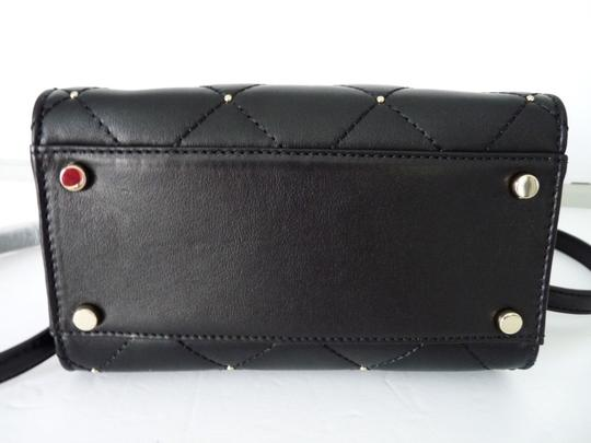 Kate Spade Sam Quilted Leather Satchel in Black Image 4