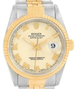 Rolex Rolex Datejust Stainless Steel Yellow Gold Mens Watch 16233 Box Papers