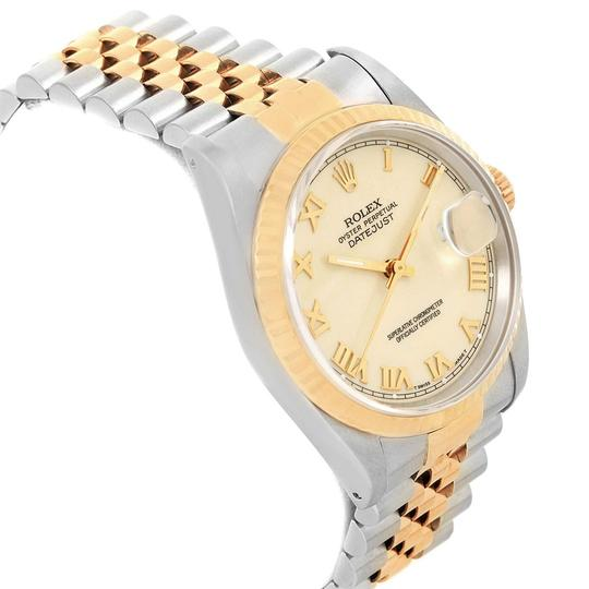 Rolex Rolex Datejust Stainless Steel Yellow Gold Mens Watch 16233 Box Papers Image 2