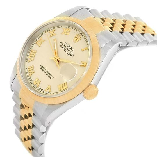Rolex Rolex Datejust Stainless Steel Yellow Gold Mens Watch 16233 Box Papers Image 3