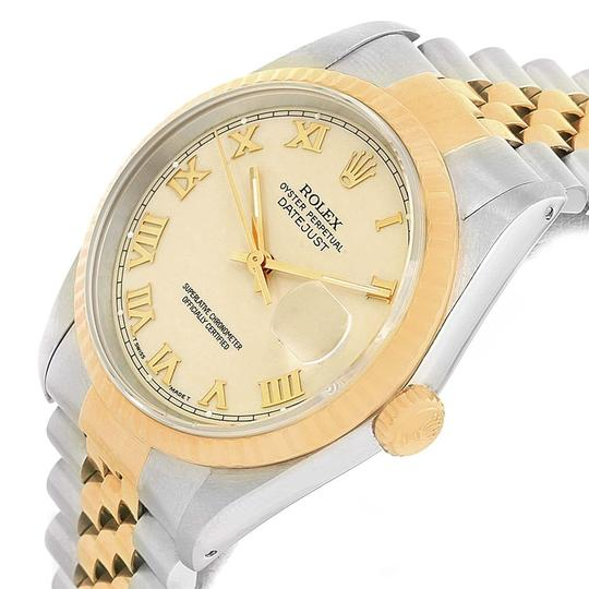 Rolex Rolex Datejust Stainless Steel Yellow Gold Mens Watch 16233 Box Papers Image 4