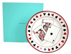 Tiffany & Co. Authentic Tiffany & Co. White Playing Card Este Ceramiche Plate