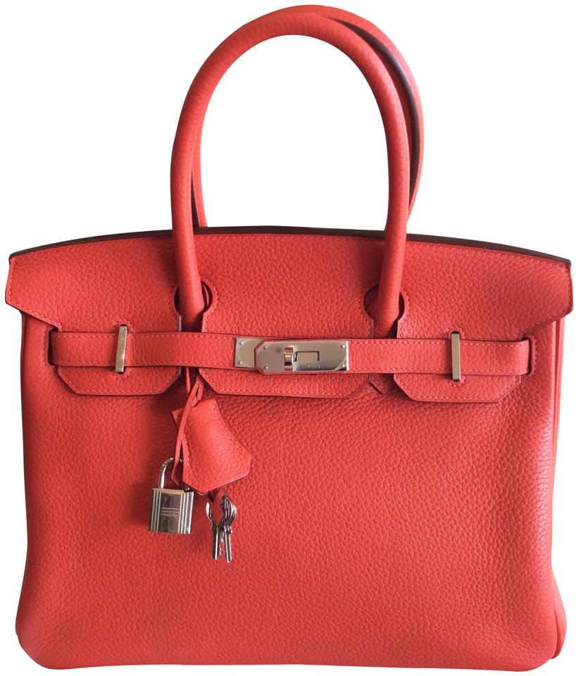 35bf65e19811 Hermès Birkin Clemence 2r Color 30 Rouge Pivoine Leather Tote - Tradesy