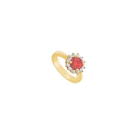 Preload https://img-static.tradesy.com/item/24322632/red-created-ruby-and-cubic-zirconia-14k-yellow-gold-150-ct-tgw-ring-0-0-540-540.jpg