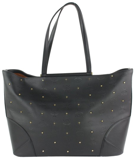 MCM Anya Liz Claudia Studded Neverfull Tote in Black Image 0