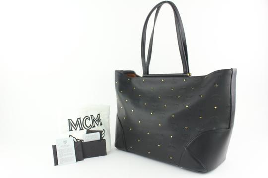 MCM Anya Liz Claudia Studded Neverfull Tote in Black Image 1
