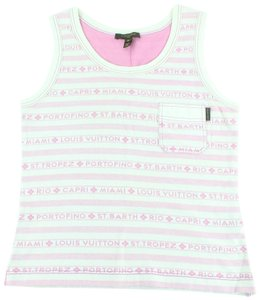 Louis Vuitton T-shirt Cruise Island Shirt Top Pink