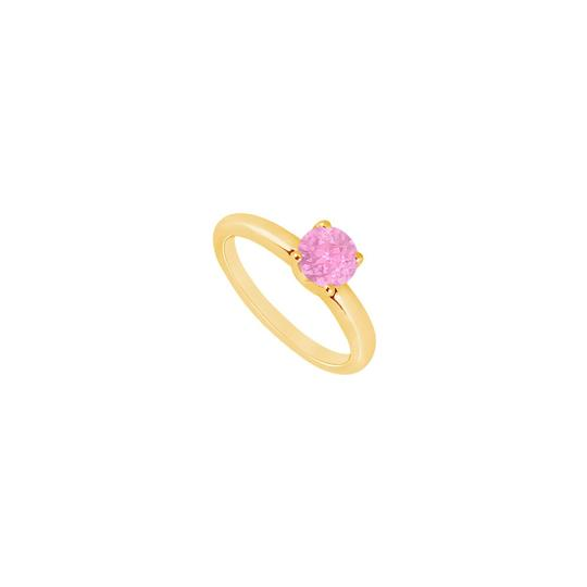Preload https://img-static.tradesy.com/item/24322672/white-created-pink-sapphire-14k-yellow-gold-100-ct-tgw-ring-0-0-540-540.jpg
