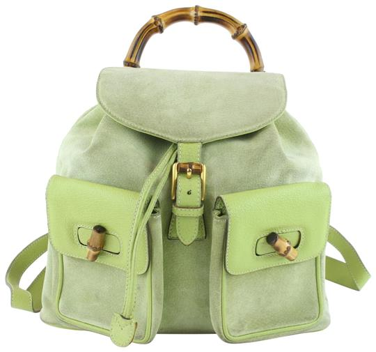 Preload https://img-static.tradesy.com/item/24322697/gucci-mint-bamboo-7gz1107-green-suede-leather-backpack-0-1-540-540.jpg