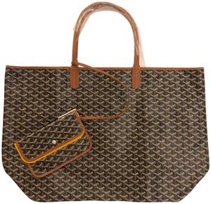 Goyard Extra Large Xxl Tote in Black and Tan