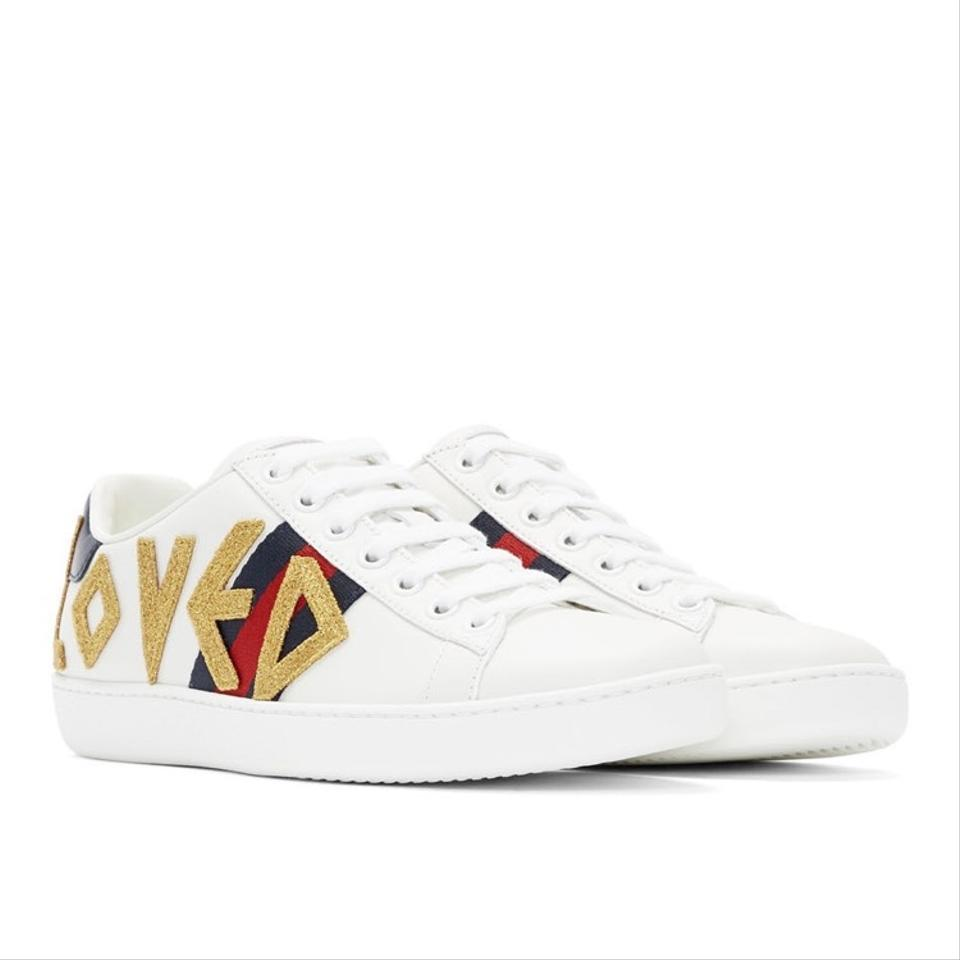 0605ca50181 Gucci Ace Loved Embroidered Leather Sneakers Sneakers Size US 6 ...