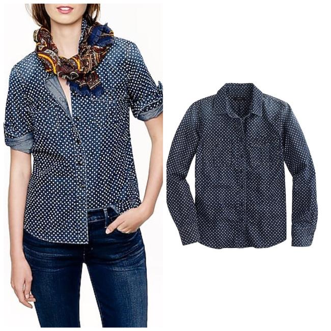 Preload https://img-static.tradesy.com/item/24322759/jcrew-blue-keeper-chambray-shirt-in-star-dott-button-down-top-size-4-s-0-0-650-650.jpg