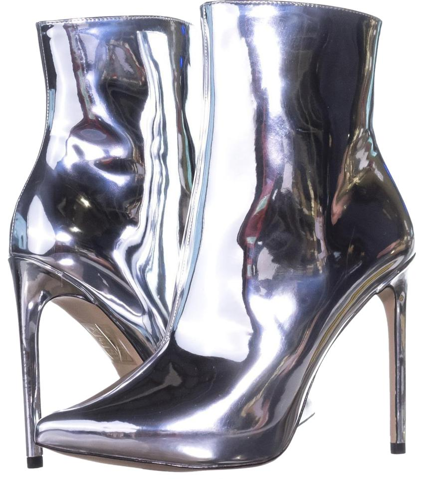 c560af7cfb9 ALDO Silver Loreni High Top Ankle 614   37 Eu Boots Booties Size US ...