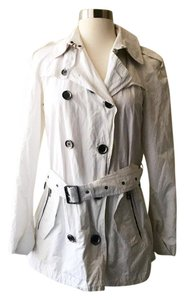 Burberry Brit Trench Double Breasted white Jacket