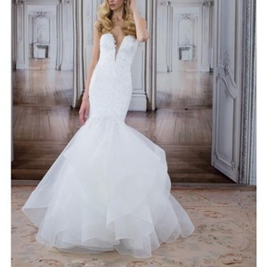 Pnina Tornai Off White 2017 Love Collection Style #14482 Feminine Wedding Dress Size 4 (S)
