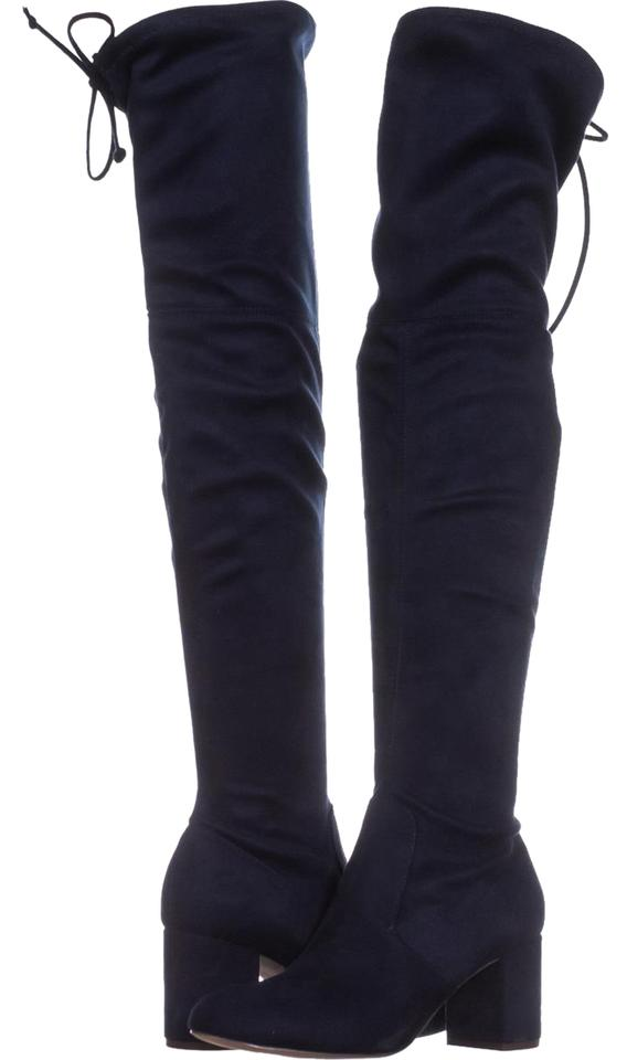 172d30aca7f9 Charles by Charles David Blue Owen Pull On Over The Knee Boots ...