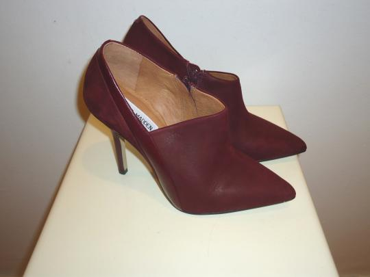 Steve Madden Leather Ankle Leather Burgundy Boots Image 2