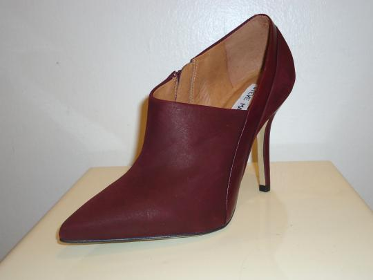Steve Madden Leather Ankle Leather Burgundy Boots Image 4