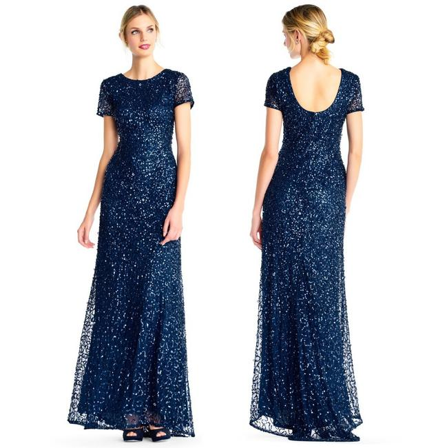 Preload https://img-static.tradesy.com/item/24323024/adrianna-papell-deep-blue-scoop-back-sequin-gown-long-formal-dress-size-4-s-0-1-650-650.jpg