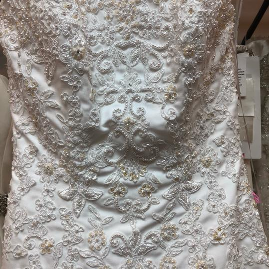 Alfred Angelo White Lace Hi-lo Gown Casual Wedding Dress Size 2 (XS) Image 10