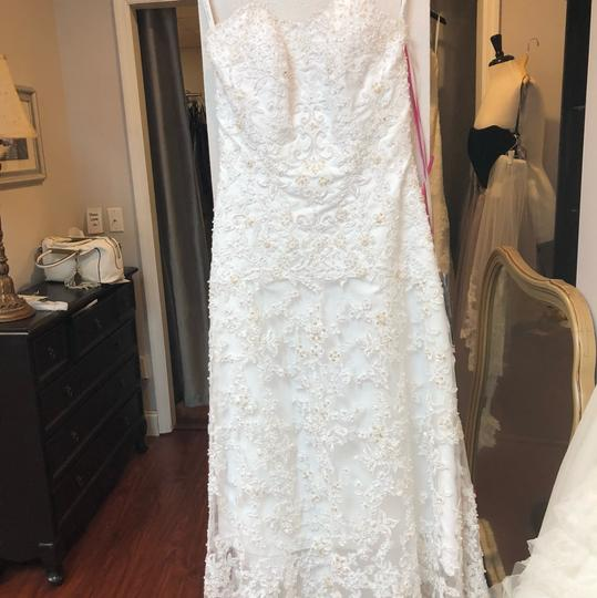 Alfred Angelo White Lace Hi-lo Gown Casual Wedding Dress Size 2 (XS) Image 11