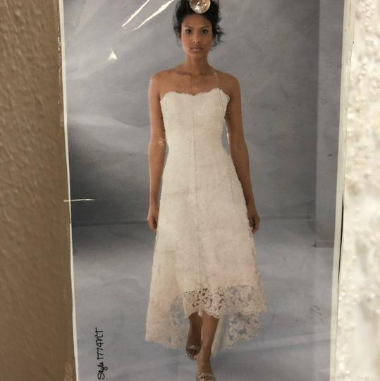 Alfred Angelo White Lace Hi-lo Gown Casual Wedding Dress Size 2 (XS) Image 2