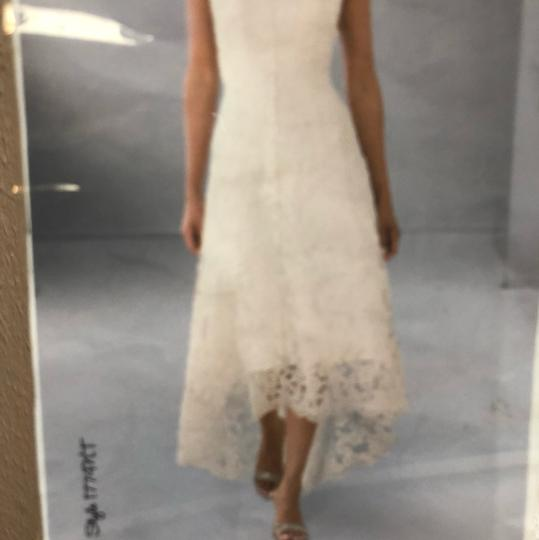 Alfred Angelo White Lace Hi-lo Gown Casual Wedding Dress Size 2 (XS) Image 3