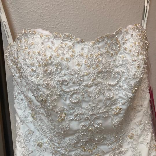Alfred Angelo White Lace Hi-lo Gown Casual Wedding Dress Size 2 (XS) Image 4