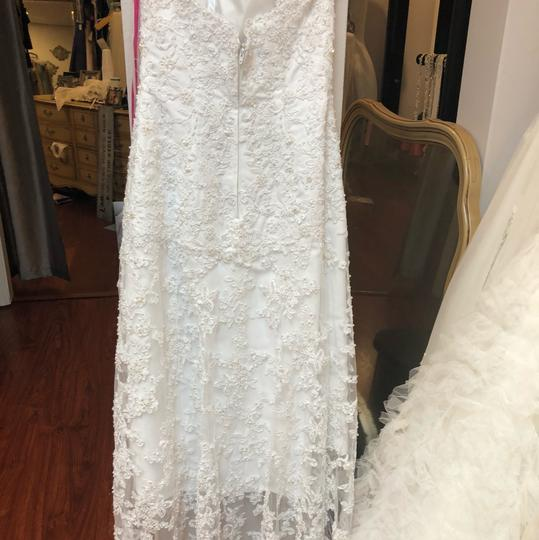 Alfred Angelo White Lace Hi-lo Gown Casual Wedding Dress Size 2 (XS) Image 7