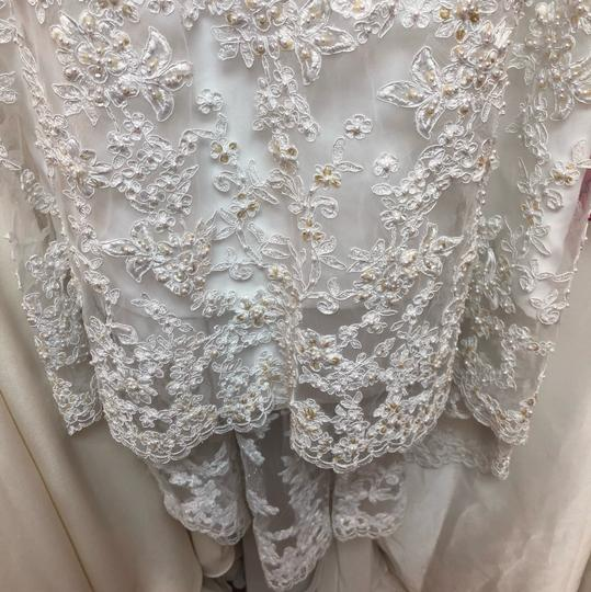 Alfred Angelo White Lace Hi-lo Gown Casual Wedding Dress Size 2 (XS) Image 8