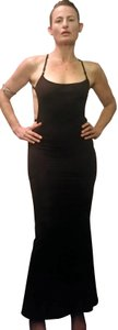 David Dalrymple for House of Field Jersey Full Length Backless Vintage Dress