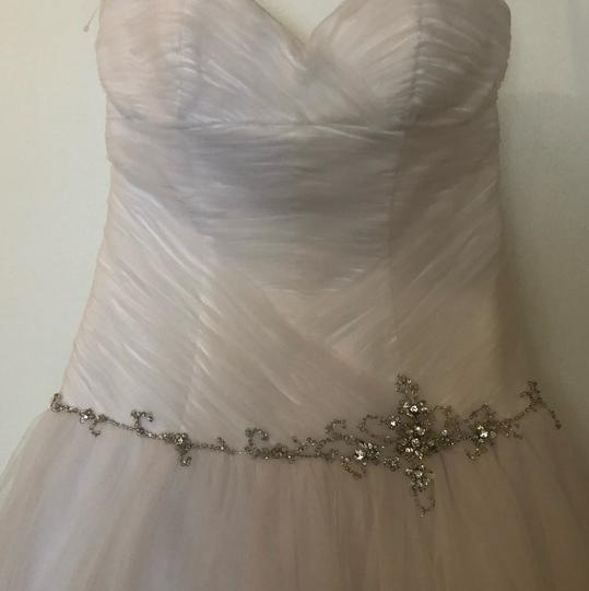 Alfred Angelo White Tulle Ball Gown Feminine Wedding Dress Size 6 (S) Image 2