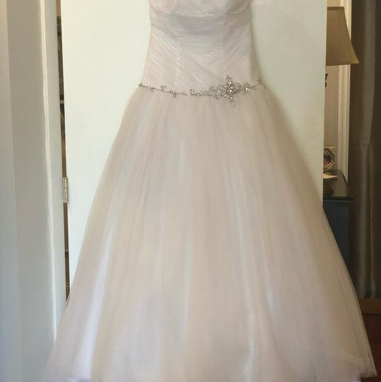 Alfred Angelo White Tulle Ball Gown Feminine Wedding Dress Size 6 (S) Image 3